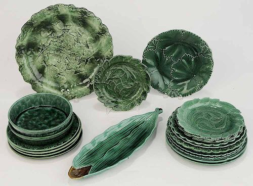 21 Pieces Green Pottery