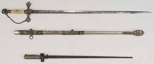 Bayonet and Sword