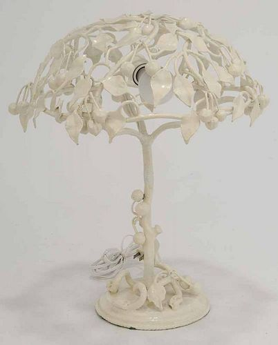 Wrought Iron Table Lamp in Form of a