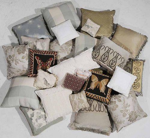 Twenty Seven Silk, Linen Pillows