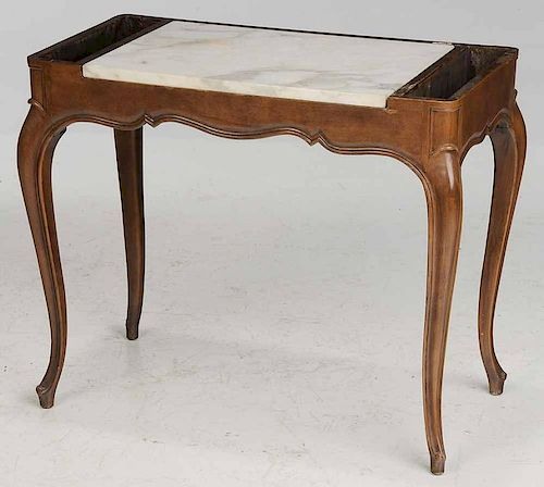 French Provincial Marble Topped Table