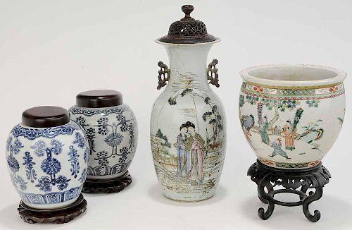 Four Pieces Asian Porcelain