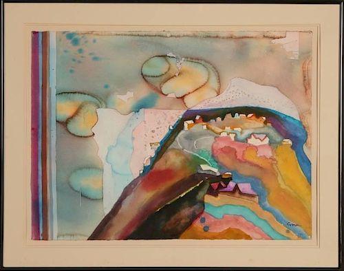 KEITH ALLEN CROWN, JR. (1918-2010) WATERCOLOR ON PAPER