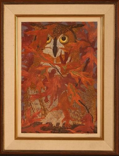 JANET TURNER (1914-1988) PENCIL SIGNED SCREENPRINT