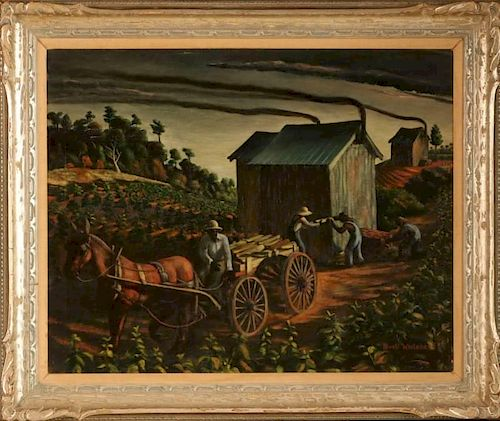 BUELL WHITEHEAD (1919-1993) 24 x 30 INCH OIL ON CANVAS