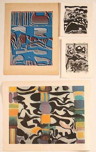 KEITH ALLEN CROWN, JR. (1918-2010) FOUR PENCIL SIGNED PRINTS