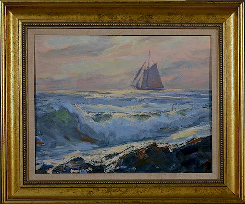 """Emile Gruppe (Am.1896-1978) 16"""" x 20"""" oil on artist board"""