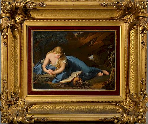 K.P.M. Beautifully Painted Plaque of Mary Magdalen