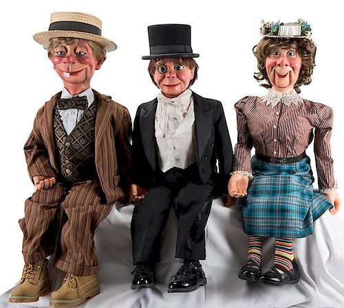 Charlie McCarthy, Mortimer Snerd, and Effie Klinker Puppet Set.