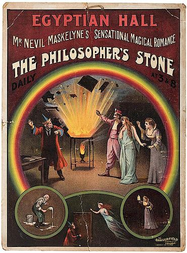Maskelyne, Nevil. The Philosopher's Stone. Egyptian Hall.