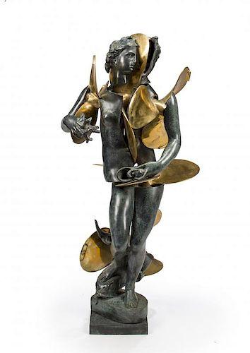 "Arman Bronze Sclupture  LARGE ""Amphitrite with propellors"""