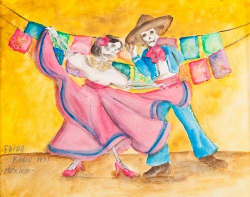 """Frida Kahlo """"El Baile de las Calacas"""""""