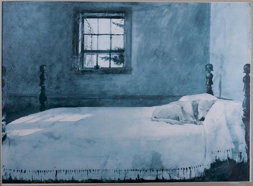 Andrew Wyeth Master Bedroom Framed Print By Bremo Auctions