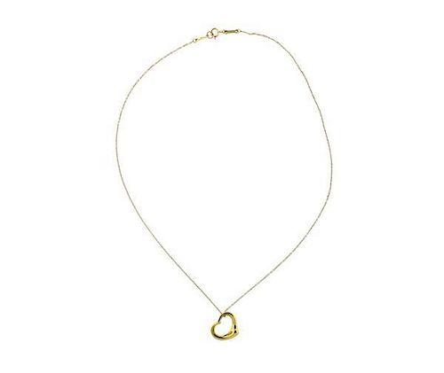 18e7ebe0e1ae Tiffany  amp  Co Peretti Open Heart Pendant Necklace by Hampton ...