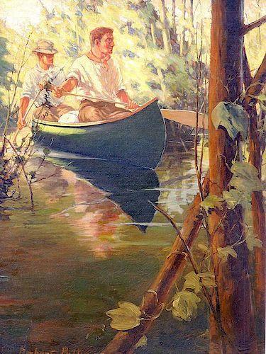 Herbert Pullinger Oil on Canvas Illustration