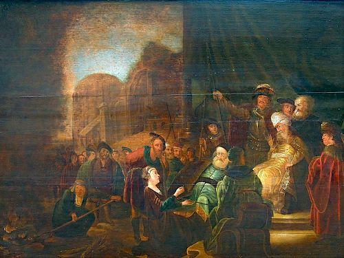 Rembrandt School Oil on Board