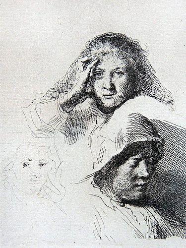 Rembrandt Van Rijn. Etching.