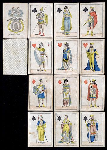 """Jaz. H. Ford """"Decatur"""" Playing Cards."""