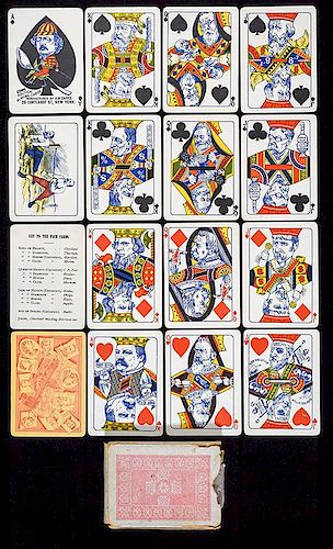 A.H. Caffee Comical Political Playing Cards.
