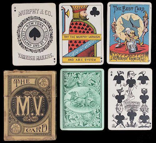 "A. Dougherty ""Murphy Varnish"" Transformation Playing Cards."