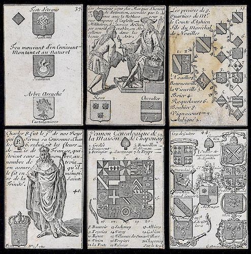 """Silvestre """"Cartes Méthodique"""" Science of Heraldry Playing Cards."""