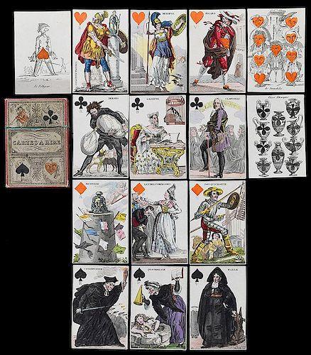 "Grandebes ""Cartes à Rire, Jeu des Journaux"" Transformation Playing Cards."