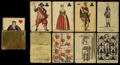 """J.C. Cotta """"Wallenstein"""" Transformation Playing Cards."""