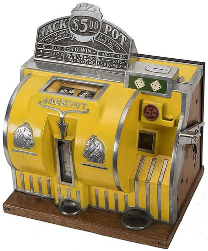 Bally Manufacturing Co. 5 Cent Reliance Dice Slot Machine.