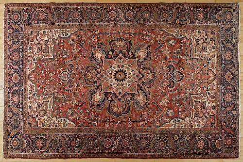 Heriz carpet, ca. 1940, 11'6'' x 7'10''.