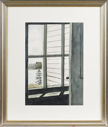 Ann Wyeth McCoy (American 1915-2005), watercolor titled Morning Light, signed lower right, 20'' x