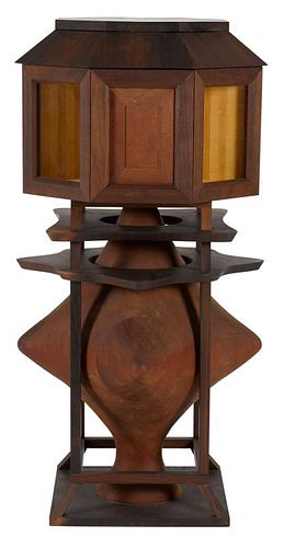 Eric Schmehl Wunderstar curiosity cabinet, signed and dated 2002, 47'' h., 23'' w.