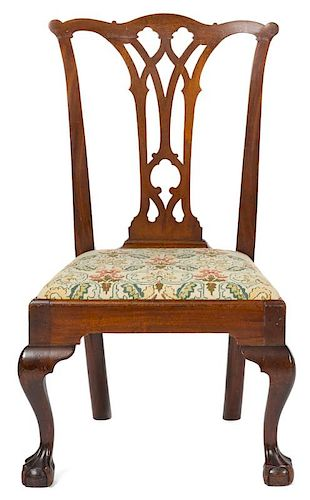 Pennsylvania Chippendale mahogany dining chair, ca. 1770. Provenance: Rentschler collection.