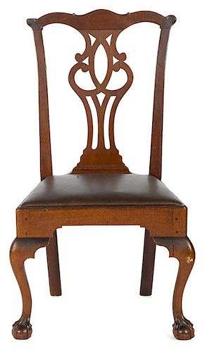 Pennsylvania Chippendale walnut dining chair, ca. 1775.