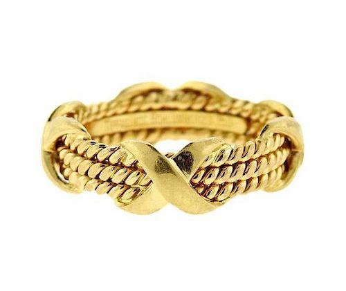 Tiffany & Co Schlumberger 18K Gold X Ring