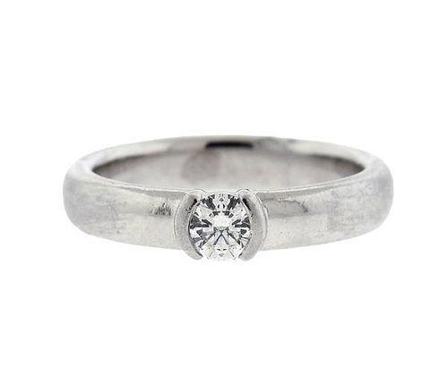 Tiffany & Co Platinum 0.31ct I VS1 Diamond Engagement Ring