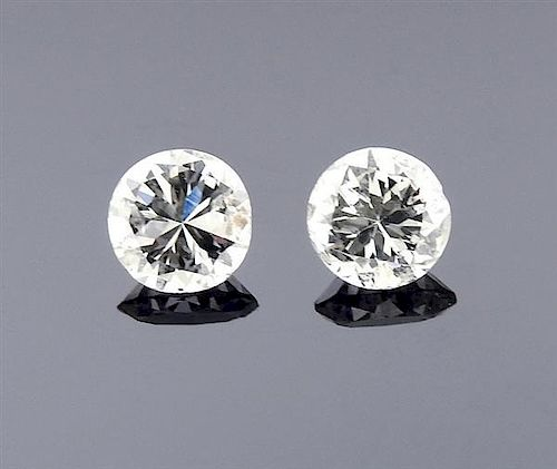 Lot of 2 0.64ctw RBC Loose Diamonds