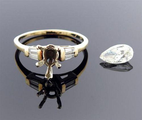 14K Gold 1.21ct Diamond Engagement Ring