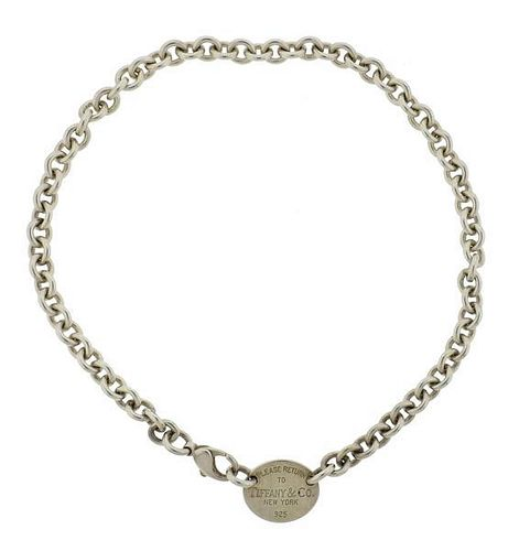 Tiffany & Co Return to Tiffany Sterling Tag  Necklace