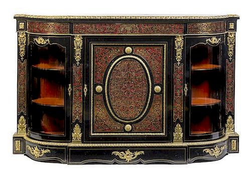 A Napoleon Iii Style Gilt Bronze Mounted Boulle Marquetry Meuble Dappui Height 45 1 4 X Width 72 3 4 X Depth 17 Inches