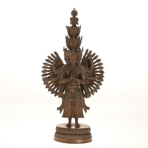 Himalayan bronze figure of Avalokiteshvara