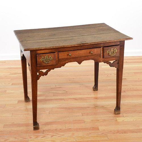 English Provincial oak dressing table