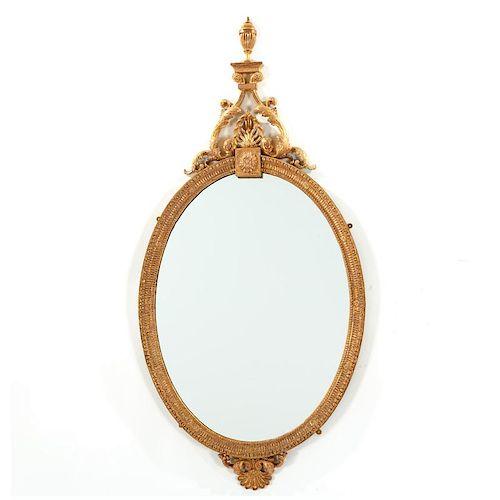 Very nice George III giltwood wall mirror