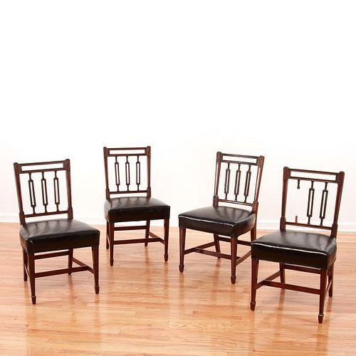 Set (4) Regency mahogany side chairs