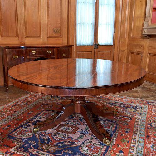 Large Regency mahogany breakfast table