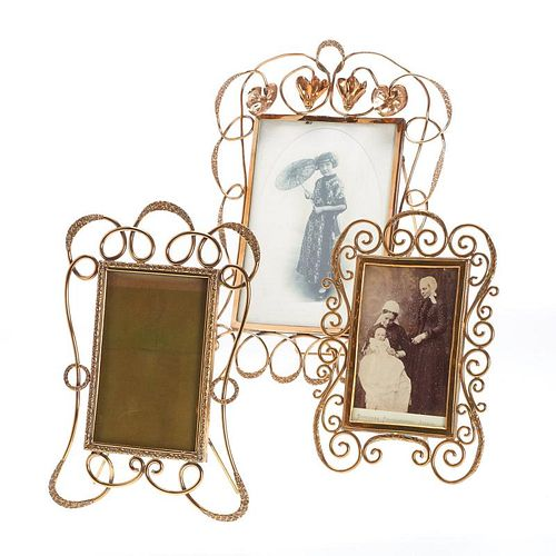 Group (3) Art Nouveau picture frames