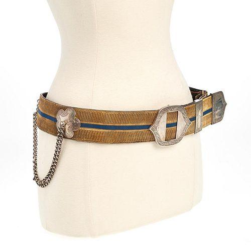 British Royal Yeomanry sterling mounted belt