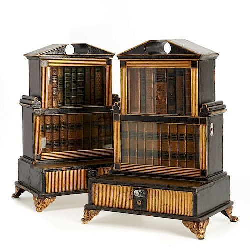 Rare miniature editions in Regency biblioteques