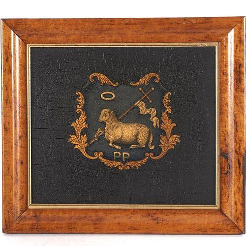 Nice British painted heraldic crest