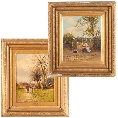 Alfred Banner, (2) paintings
