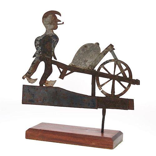 American Folk sheet iron weathervane